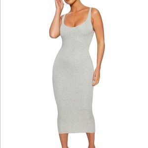 NWT NW Hourglass Midi Dress Grey S